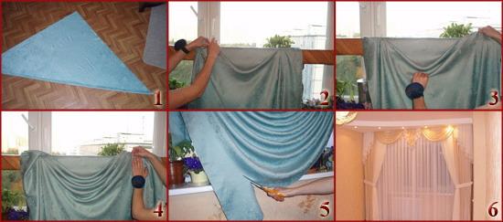Как сшить шторы с ламбрекены своими руками